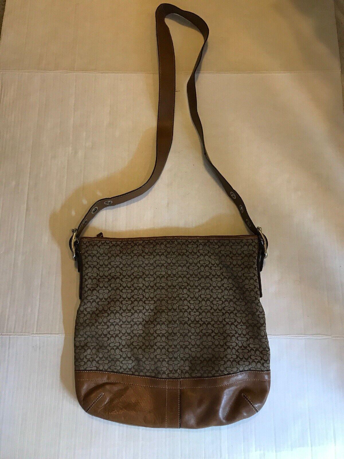 Coach Monogram Canvas Tan Crossbody/Shoulder Bag - image 1