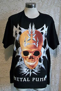 goth-punk-emo-039-METAL-PUNK-039-SKULL-T-SHIRTS-SIZES-MEDIUM-LARGE-EXTRA-LARGE