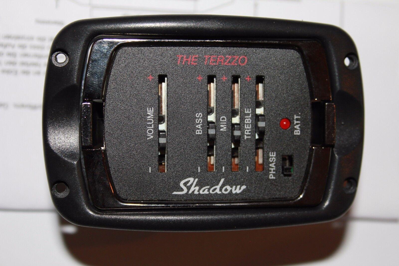 Shadow SH Terzzo Preamp mit Buchse und Nanoflex Piezo Gurtendknopf mit Klinke