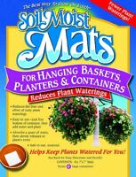 Soil Moist Mats For Hanging Baskets Planters And Containers 6pc Pack , New, Free