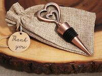 20 Vintage Two Hearts Become One Bottle Stoppers Wedding Favors Bridal Shower