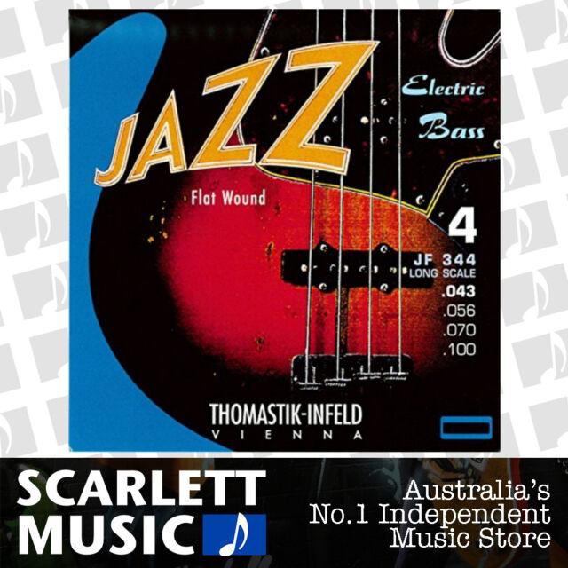 Thomastik JF-344 Jazz Nickel Flat Wound 4-String Bass Guitar Stings 43-100