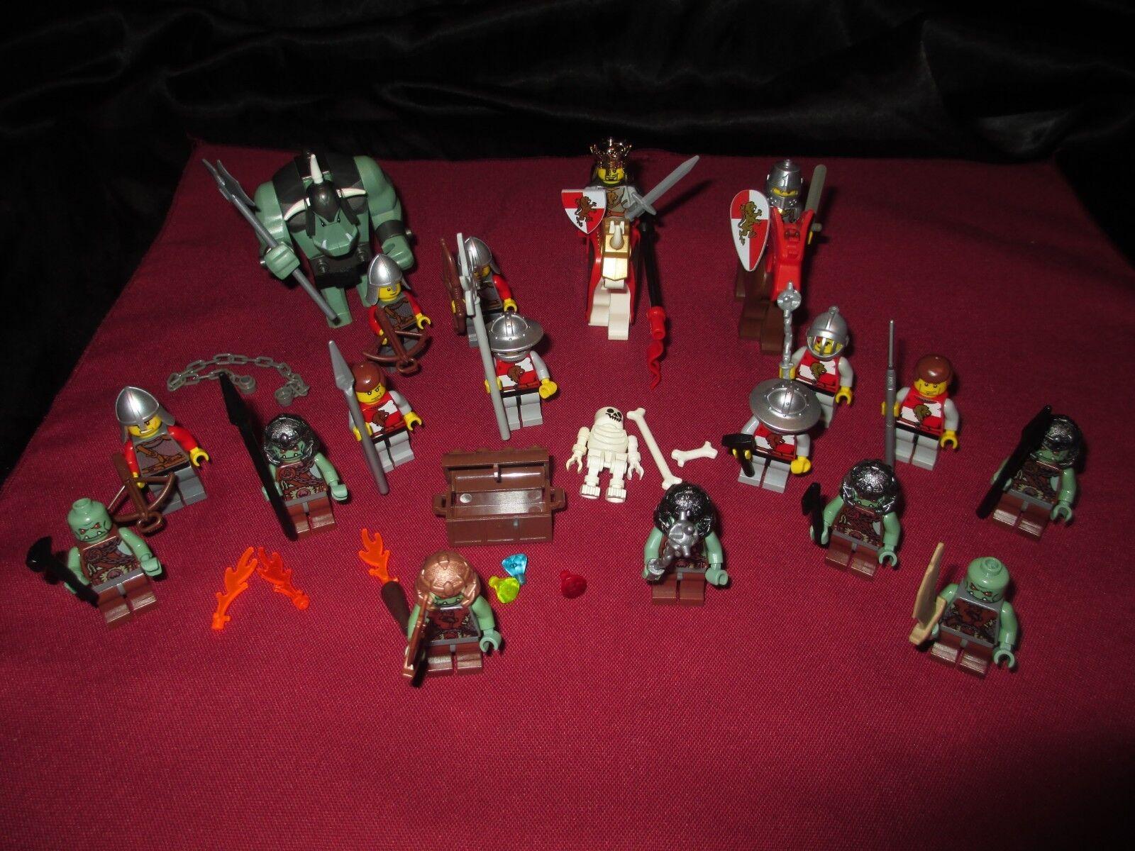 Lego Castle minifigures lot Knight, soldats,  chevaux, Armor, Trolls, armes,  offres de vente