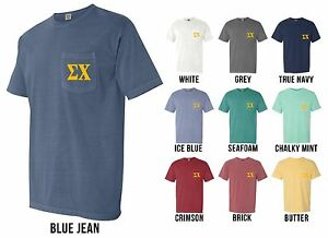 image is loading sigma chi fraternity letters comfort colors pocket shirt