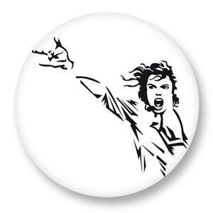 "Pin Button Badge Ø25mm 1/"" Music Musique Michael Jackson King of Pop MJ Bad"