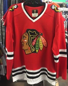 sports shoes 1108c bf2a8 Details about Chicago Blackhawks Fanatics Branded Retro Vintage Blank  Hockey Jersey NHL Medium