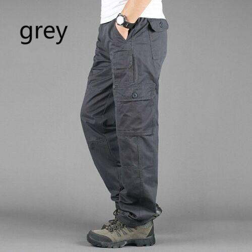 Hommes 7 Poches Cargo Militaire Pantalon De Travail Coton Armée Uni Extérieur