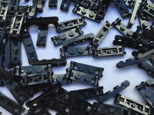 LEGO 18649-10 Pieces Of Black 1x2 Plates With End Handles