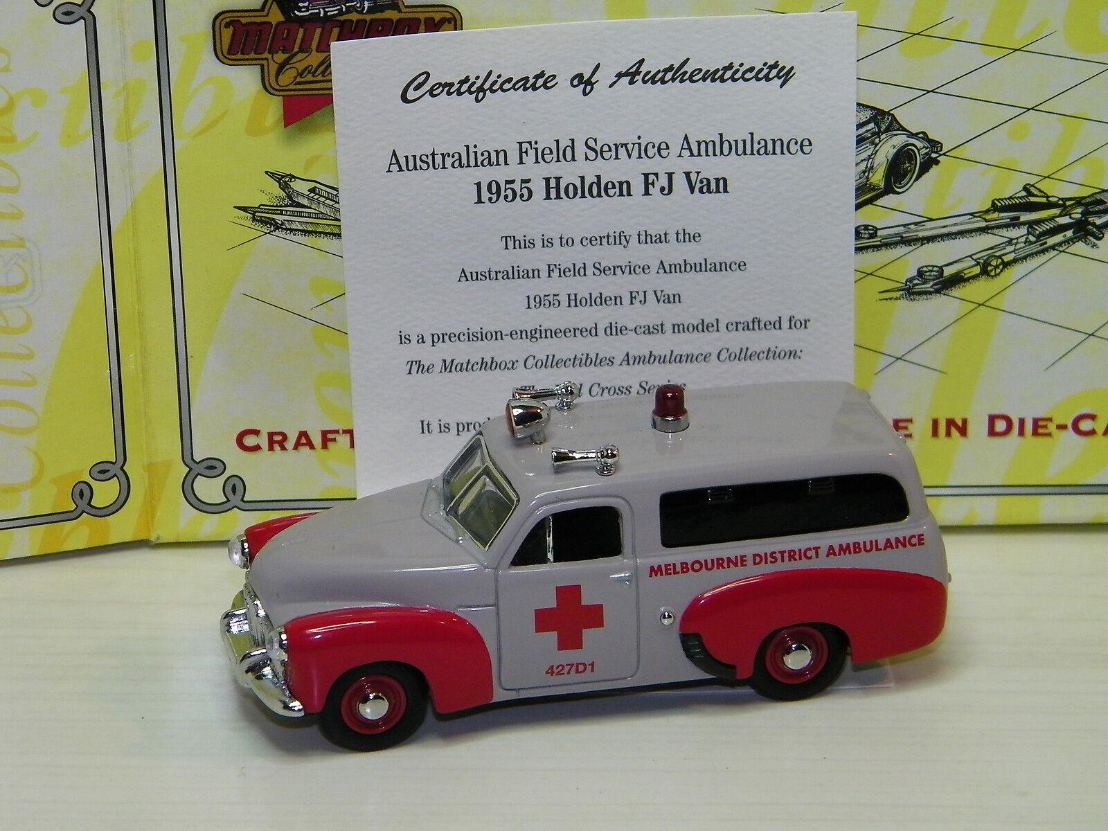 MATCHBOX - HOLDEN FJ 1955 VAN AUSTRALIAN FIELD SERVICE AMBULANCE