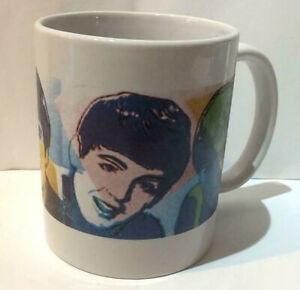 Rare-THE-BEATLES-MUG-John-Lennon-PAUL-McCARTNEY-George-Harrison-UNUSUAL-DESIGN