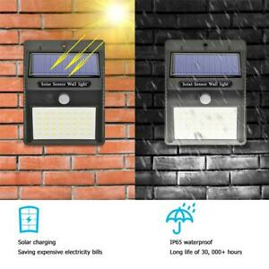 4er-40LED-Luce-Solare-Lampada-con-Sensore-di-Movimento-Esterno-Faretto-Giardino