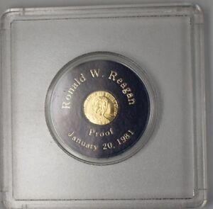 President Ronald W Reagan January 21 1981 Proof Gold Capital Inaugural Medal