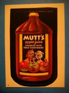 Knowledgeable 1986 Topps Wacky Paquet Autocollant #5 Mutt's Apple Juice Pour Chiens Nourishing The Kidneys Relieving Rheumatism Other Breweriana