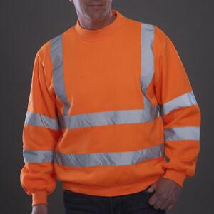 Yoko Hi Vis Sweatshirt Reflective Viz Jumper Safety Work Wear Sweater HVJ510
