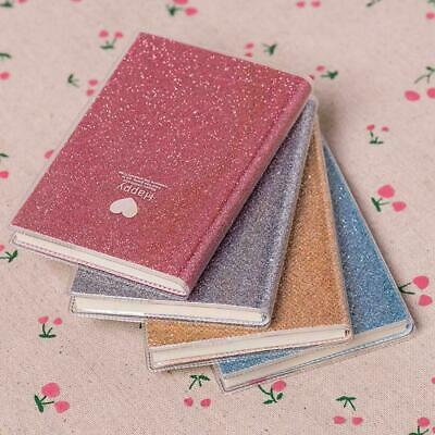Fashion PVC Paper Shiny Cool Diary Book Kawaii Notebook School Office U3H1