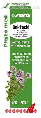 sera Phyto med Baktazid 30ml-bei äußerem bakteriellen Befall auf Haut und Kieme