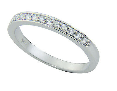 0.22ct Traditional Bridal Solid 14K White Gold Wedding Band