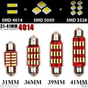 Un-top-31-41-mm-4014-SMD-12-LED-Luz-CANBUS-Festoon-Bombilla-Interior-Reino-Unido-libre-de-errores