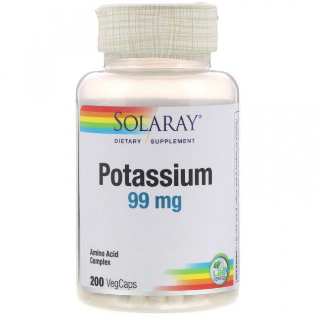 Solaray, Potassium, 99 Mg, 200 VegCaps