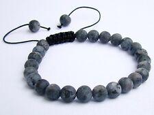Men's bracelet all 8mm Natural Gemstone Labradorite beads frosted matt