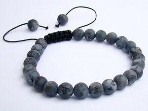 Men/'s bracelet all 8mm Natural Gemstone Labradorite beads frosted matt