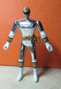 power rangers ranger metallic silver white 1995 bandai 5 5 ebay ebay