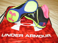 NEW UNDER ARMOUR MICRO G TORCH 2 BASKETBALL SHOES 11.5 Blk/Pink/Neon FREE SHIP