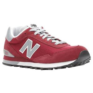New Balance 515 Classics Mercury Red Silver Mink Men Suede Mesh Low top Trainers