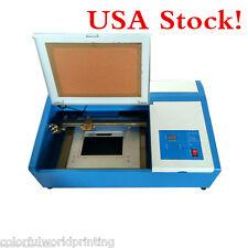 USA!! Desktop 50W CO2 Laser Engraving Cutting Machine 300mmx200mm +Up&Down