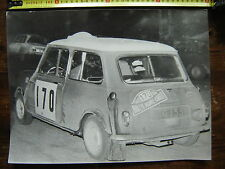 rare photo original MINI COOPER S RALLYE MONTE CARLO 1968 / 40 X 30 cm