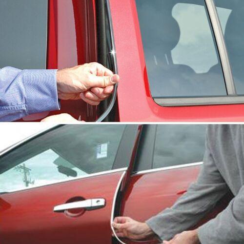 Full Size 19/' Chrome U Shape Car Door Edge Guard Trim