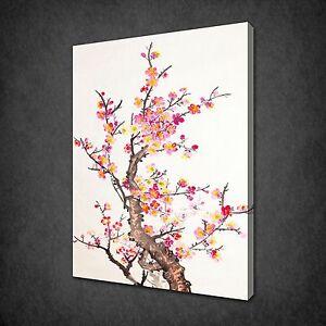 Image Is Loading Plum Blossom Painting Oriental Wall Art Canvas Print