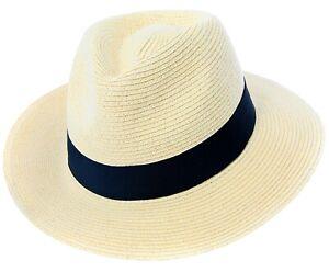 Homme ou Femme Paille Fedora Chapeau déformable Large Bord Chapeau Panama Trilby Summer Cap