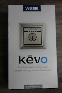 Weiser-Kevo-Generation-2-9GED15000-204-Smart-Lock-Satin-Nickel