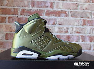 f86eb32a5be Air Jordan 6 VI Retro Pinnacle Promo Flight Jacket Satin SNL Green ...