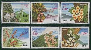 LAOS-N-481-486-fleurs-sauvages-1983-Flowers-set-MNH