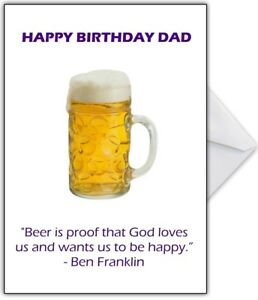 Image Is Loading Funny Beer Birthday Card Personalised Any Name Dad
