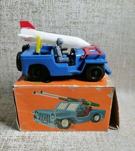 New in Box elvip TOYS JEEP pour Armée Forces Wind-up nº 59 (2) MADE IN GRECE GRECQUE