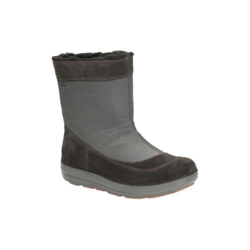 New Clarks Nelia Moon Dark Grey Combi Gore-Tex Boots Size UK 5 1 2 D