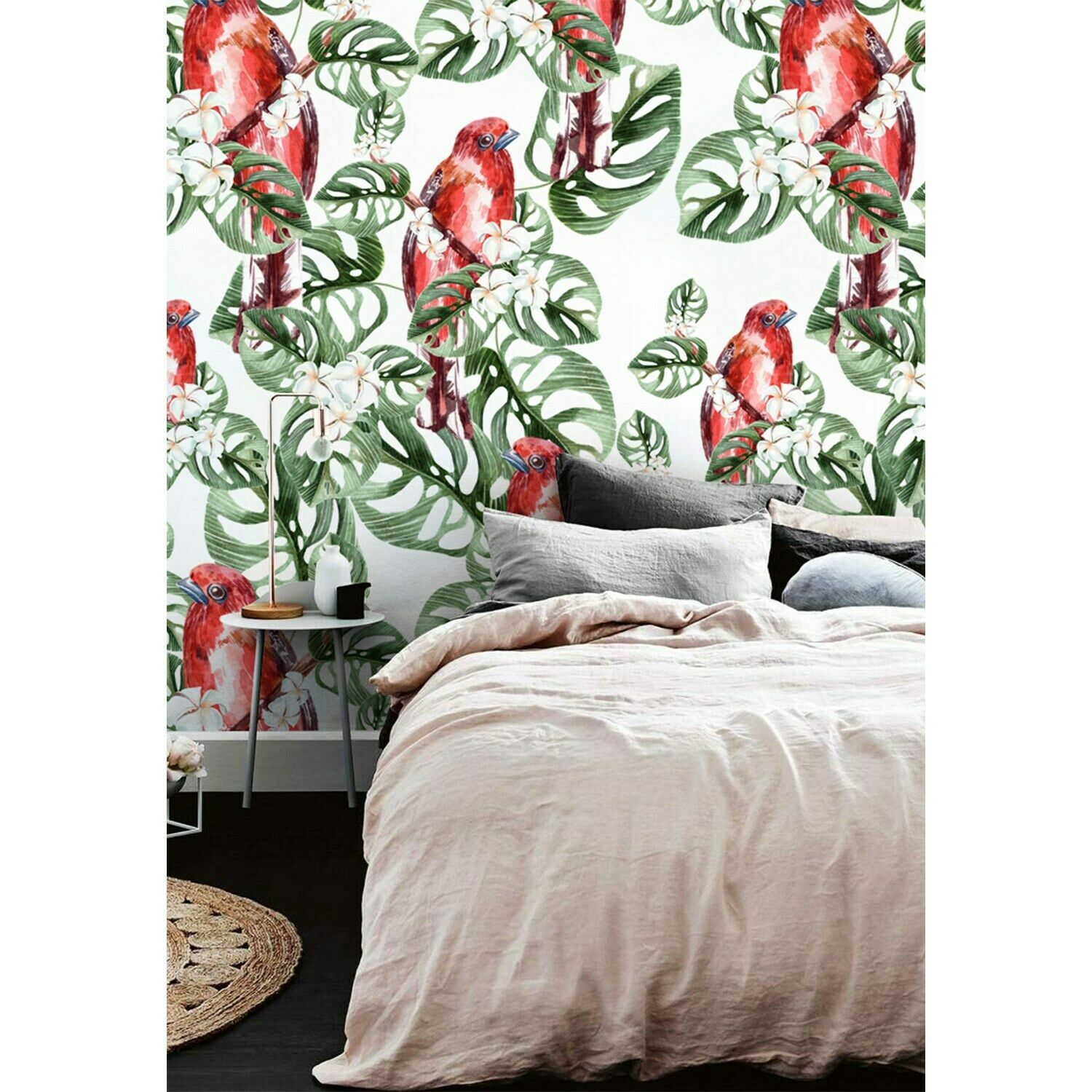 Jungle Parrot wall Home Mural Grün leaves tropical Traditional wallpaper home