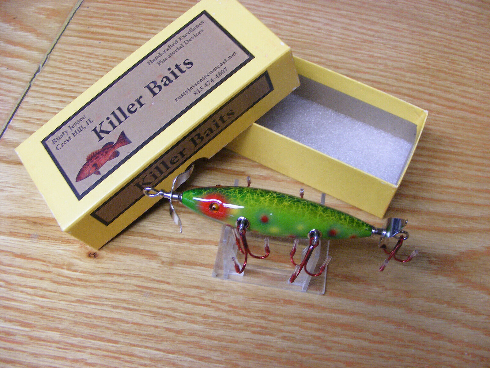 Killer Baits Rusty  Jessee Heddon Little Sac Style Glasseye 150 in Brook Trout  shop clearance