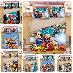 Dragonball-Z-Design-Bedding-Set-3PC-Of-Duvet-Cover-Pillowcase-Single-Double-King