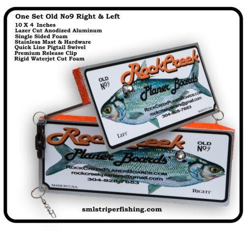ROCK CREEK PLANER BOARDS RIGHT /& LEFT WALLEYE STRIPER OFFSHORE RELEASE