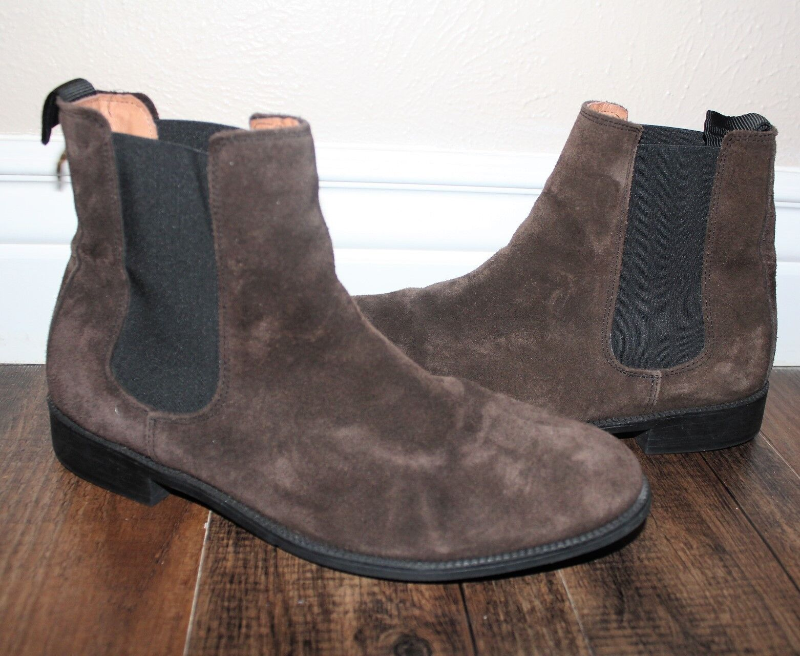 H&M Dark Brown Suede Chelsea Boots EU 43 Men's Size 10 Women's Size 11