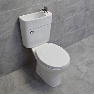 Duo Toilet Basin Combo Combined Toilet With Sink Tap Space
