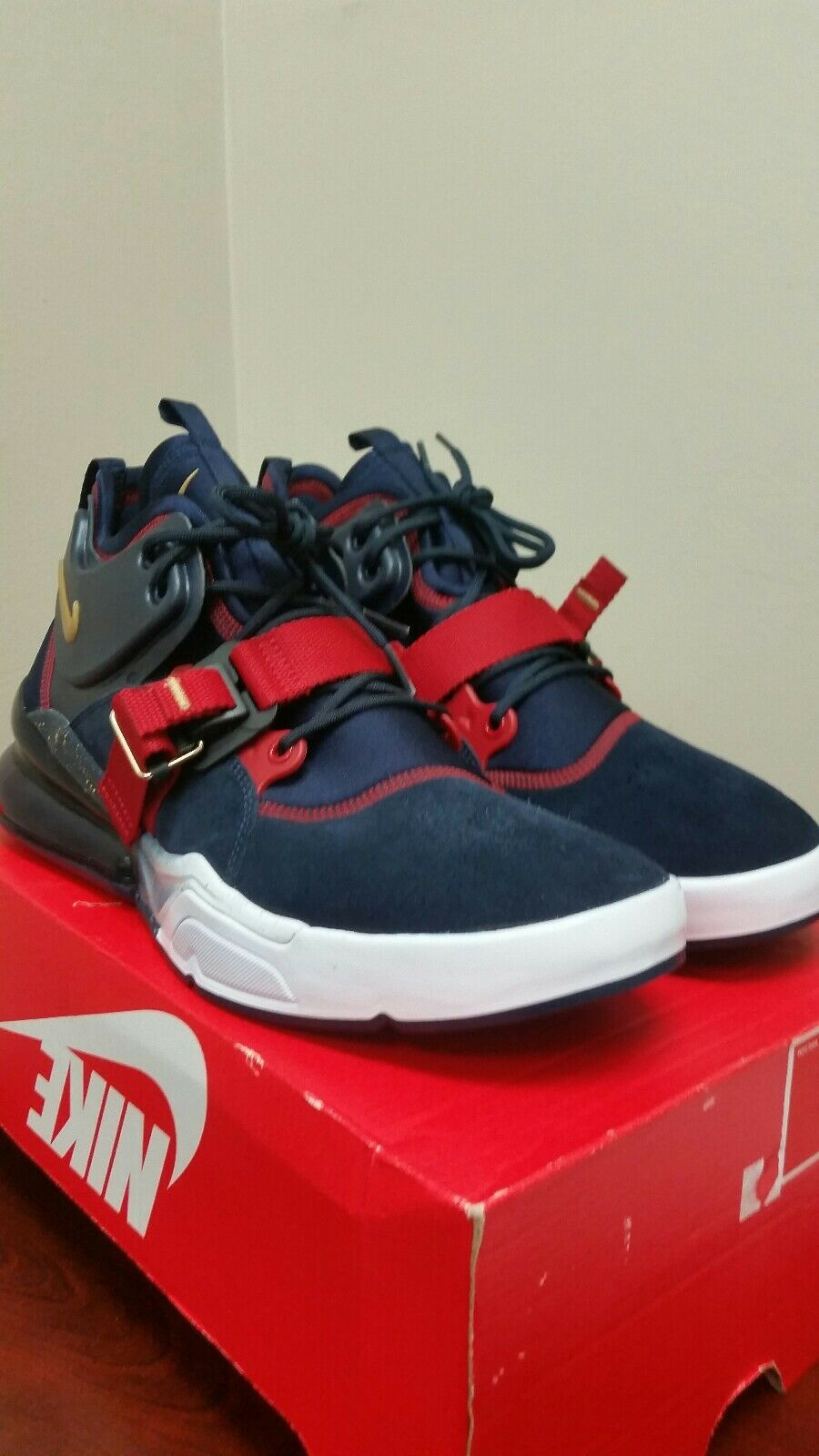 NIKE AIR FORCE 270 AH6772-400 Olympic Team bluee gold red Size 11.5 men New