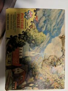 Vintage-1961-950A-034-The-Roadside-Church-034-Tuco-200-300-Pc-Jigsaw-Puzzle-Complete