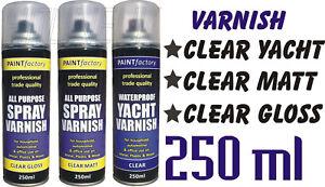 Image Is Loading 250ml Clear Gloss Clear Matt Clear Yacht Varnish