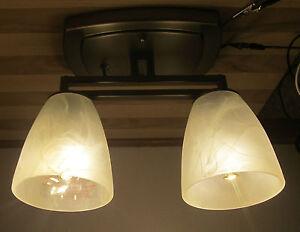 2 arm nickel 12 volt led rv trailer white alabaster ceiling dinette image is loading 2 arm nickel 12 volt led rv trailer aloadofball Gallery
