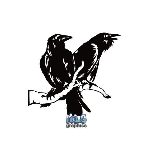 HUGIN and MUNIN vinyl Sticker NORSE MYTHOLOGY VIKING ASATRU TALISMAN Heathen
